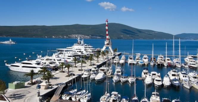 Porto Montenegro Superyacht Marina situated in a beautiful Mediterranean yacht charter destination - Montenegro