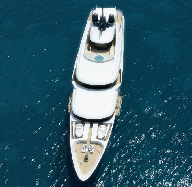 Project Black&White Yacht - view from above