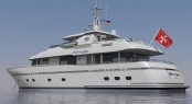Rendering of the 29m superyacht Belle du Jour by Flevo Ship Holland