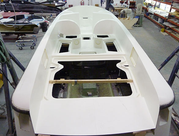 SL Limousine superyacht tender under construction at Pascoe International