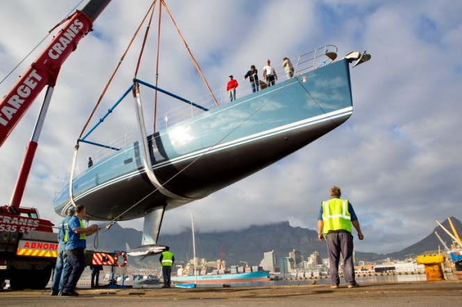 SW 102 superyacht Hevea - Launching count down