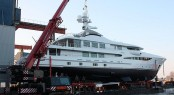Sistership to Engelberg Yacht - luxury yacht Step One at launch