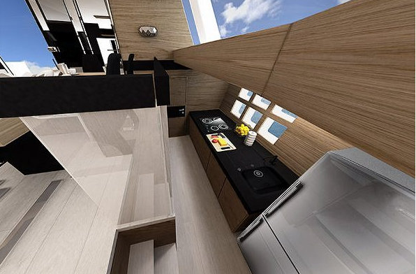 Sunreef 60 LOFT yacht concept - Galley