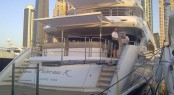 Sunseeker 40M Yacht Princess K on display at Dubai Boat Show 2013