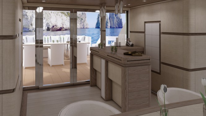 Superyacht Columbus Sport 130 Hybrid - Main Saloon
