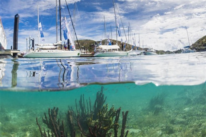 Swan Fleet berthed at the Yacht Club Costa Smeralda in Virgin Gorda - Photo by Rolex Carlo Borlenghi