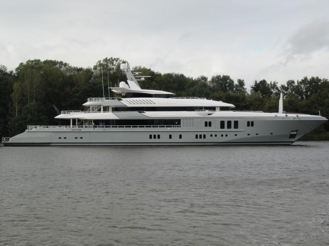 The impressive 74m mega yacht Mogambo by Nobiskrug