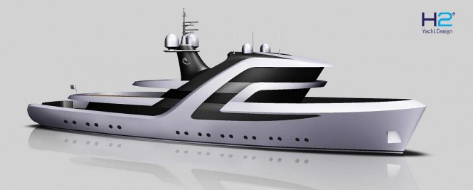 Transformation of HR MS Blommendal into a superyacht by H2 Yacht Design