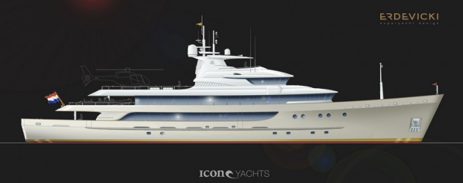 Transformation of the 59m HR MS Blommendal into a superyacht by Erdevicki Superyacht Design