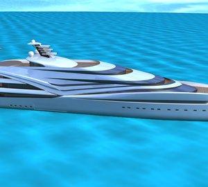 Mega Yacht V120 design concept by IP.YD studio