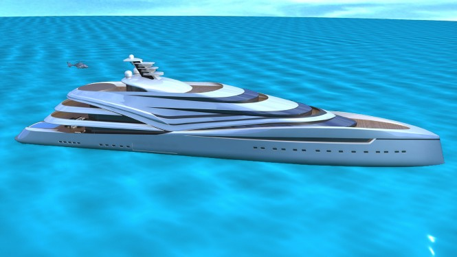 V120 superyacht design concept by IPYD
