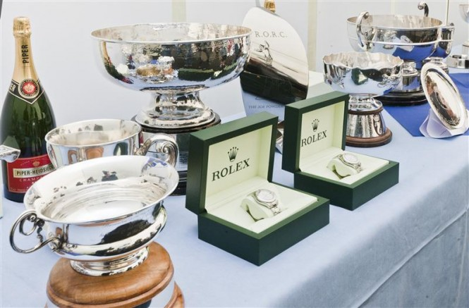 2011 Rolex Fastnet Race Trophies - Photo by Rolex Carlo Borlenghi