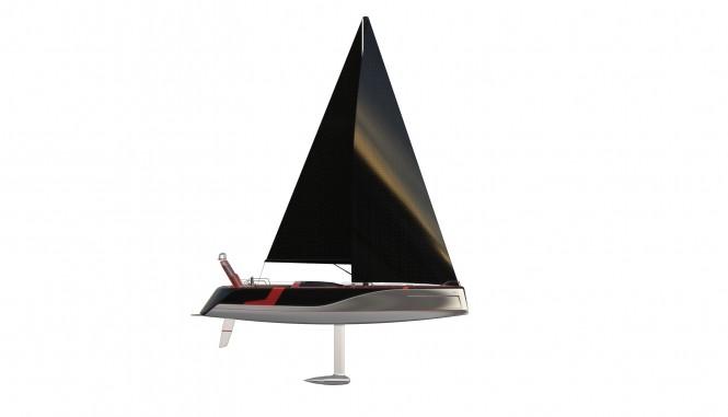 25m Poseidon yacht concept under sail
