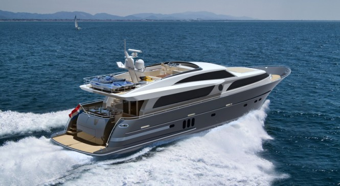 26m luxury yacht Continental III - aft view