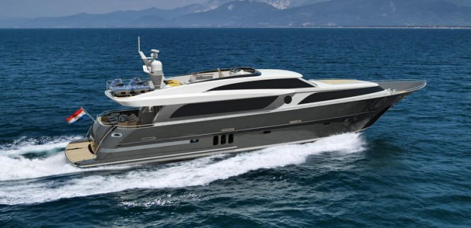 26m superyacht Continental III - side view