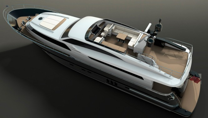 26m superyacht Continental III - upview