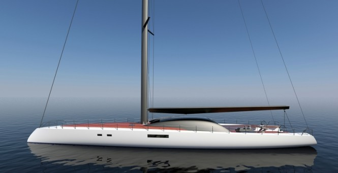 30m high-performance sailing yacht Project Immersion by Tim Gilding