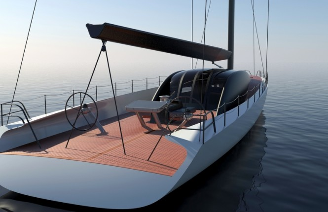 30m sailing yacht Project Immersion concept by Tim Gilding