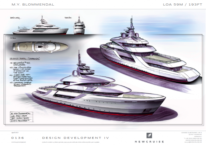 59m survey vessel conversion project by Newcruise for ICON Yacht Design Challenge