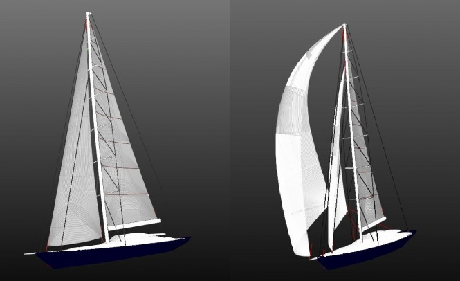 60m Perini Navi mega yacht Hull C.2218
