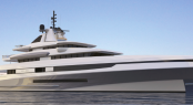 88m mega yacht HELIOS concept designed by Axis - Horacio Bozzo for Benetti