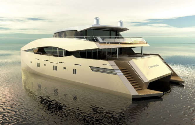 90 Sunreef Power Yacht - aft view