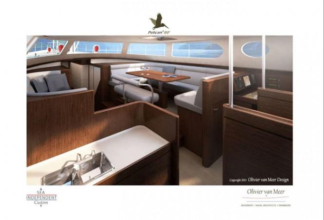 Aboard Pelican 80 superyacht concept