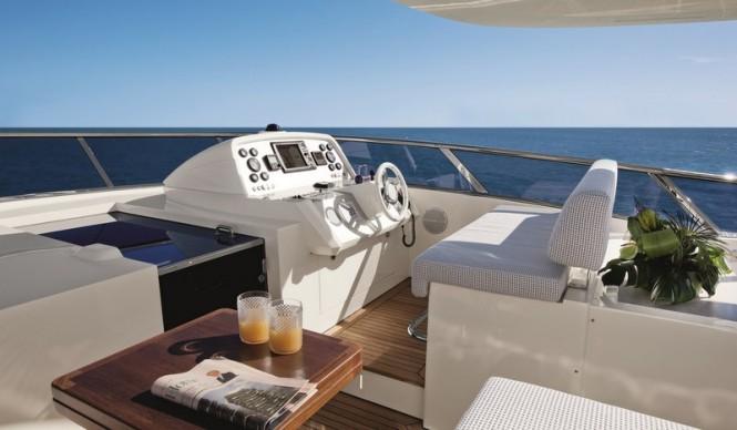 Aboard luxury yacht Azimut Grande 100