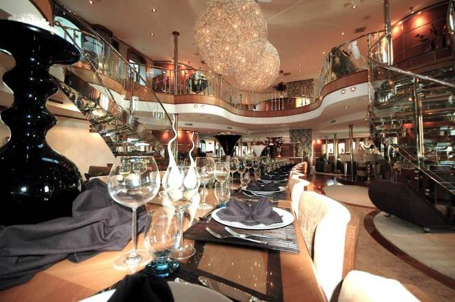 Aboard motor yacht SHERAKHAN