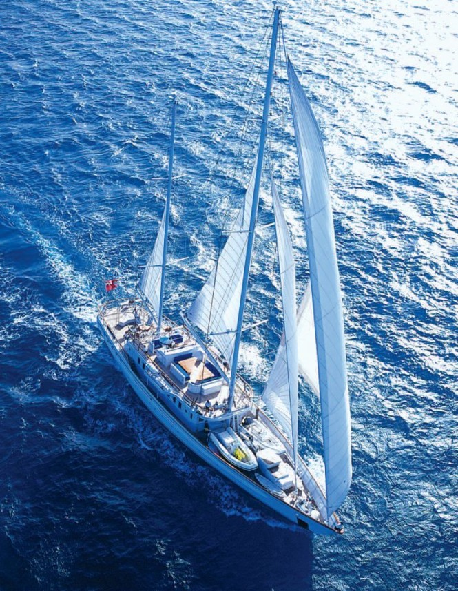 Aerial View of Dione Star Yacht - Photo Courtesy of Dione Star