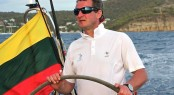 Simonas Steponavi&Atilde;&uml;ius, skipper of sailing yacht Ambersail: Global Yacht Racing