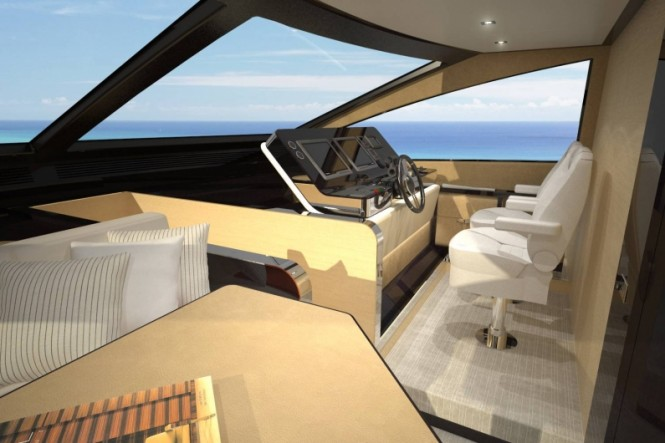 Azimut 80 yacht - Wheelhouse