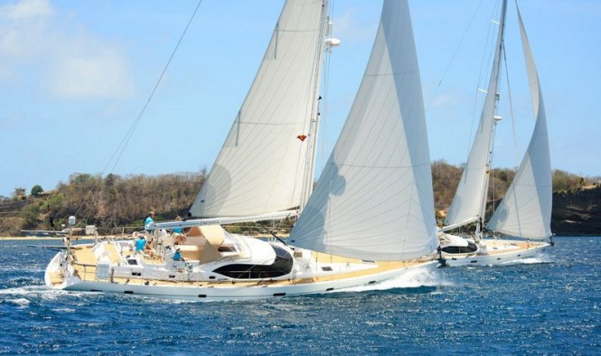 Beautiful Oyster yachts in action