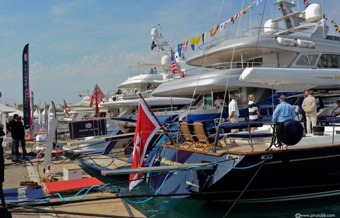 Beautiful display of yachts at the Antibes Yacht Show 2013