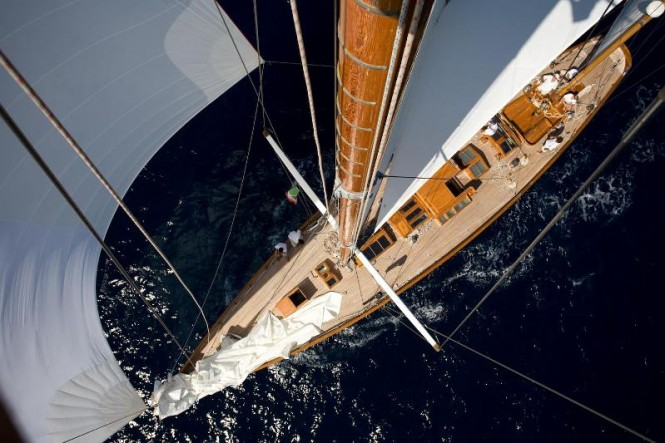 Carlo Falcone's luxury yacht Mariella - 79ft William Fife defender built in 1936