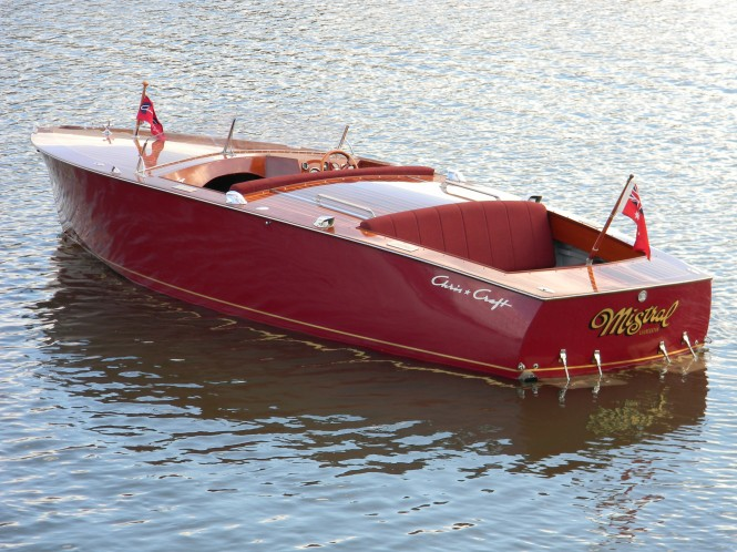"Classic yacht tender Mistral by Chris-Craft which featured in the film ""On Golden Pond"""