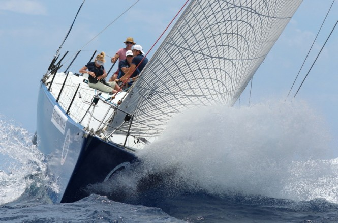 Cuba Libre racing in the Non Spinnaker Class on the first day of racing at Les Voiles de Saint Barth