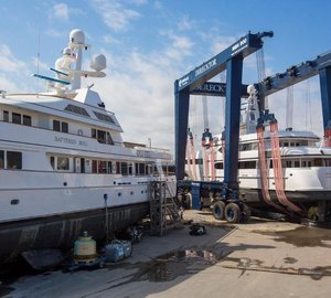 Derecktor's Cimolai® 900 ton mobile boat hoist a Great Success