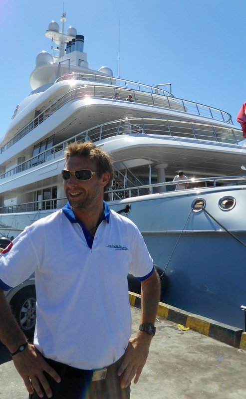 Discover Indonesia Richard Lofthounse on Mayan Queen Yacht at Bali Dock