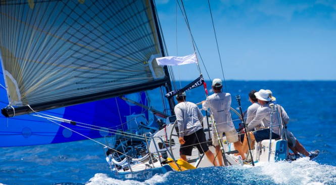 Downwind sailing at the Voiles de Saint Barth on Day 1
