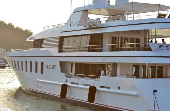 Feadship superyacht Blue Sky on display at Hainan Rendez-Vous 2013