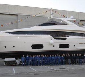 Luxury motor yacht Ferretti 960 launched by Ferretti Yachts