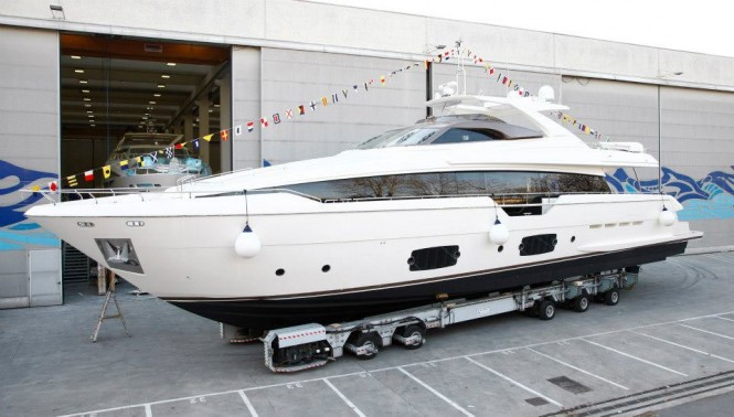 Ferretti 960 yacht launch - Image courtesy of Ferretti Group