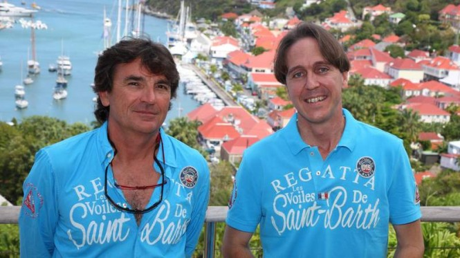 François Paul Tolède, Organisation Director and Nils Dufau, VP of the Collectivity of Saint Barth and President of the Tourism Committee  © Tim Wright / Les Voiles de St Barth