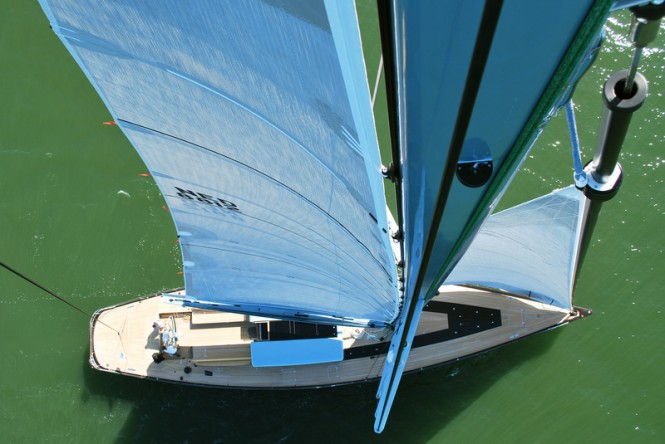 Frers 88 superyacht Tulip - view from above
