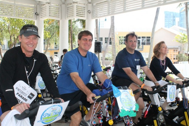From L-R Mayor Walter Duke, Mayor Jack Seiler, Mole Telfer, MICF Chairman, Mayor Kristin Jacobs