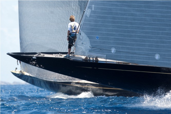 Hanuman yacht heads to Palma - Photo Claire Matches