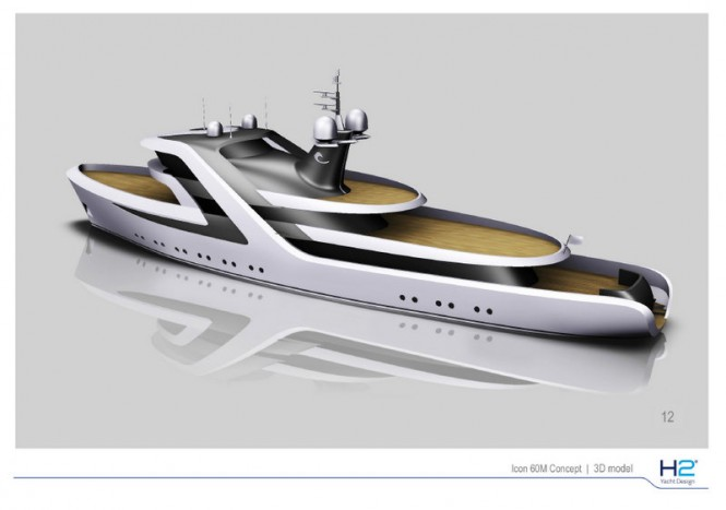 ICON Yachts Design Challenge 59m superyacht conversion by H2 Yacht Design