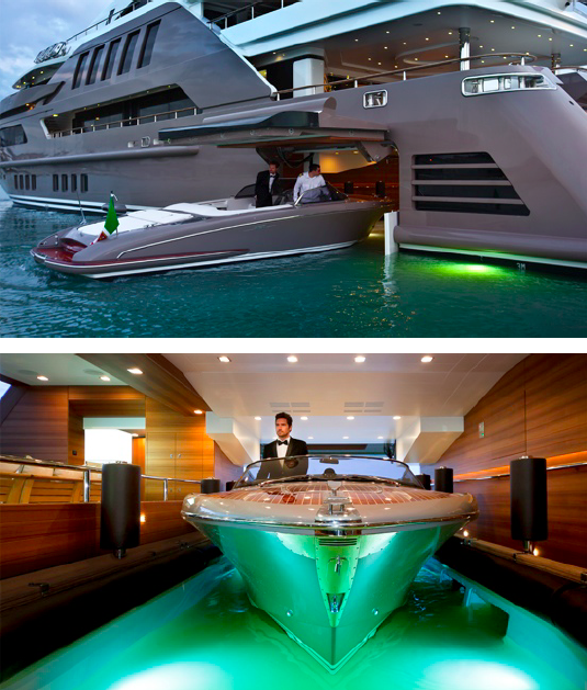 J'Ade yacht by CRN - Floating garage