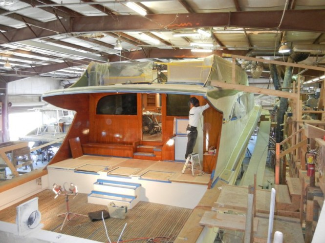 Jim Smith 105' superyacht Hull No. 29 under construction